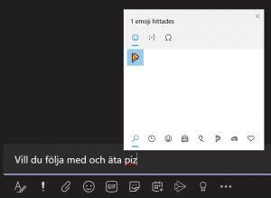 Emojis i meddelanden